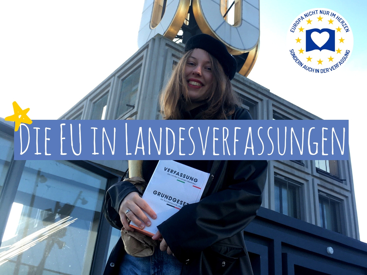 """Symbolbild mit dem Dortmunder U und der Aufschrift """"Die EU in Landesverfassungen"""""""