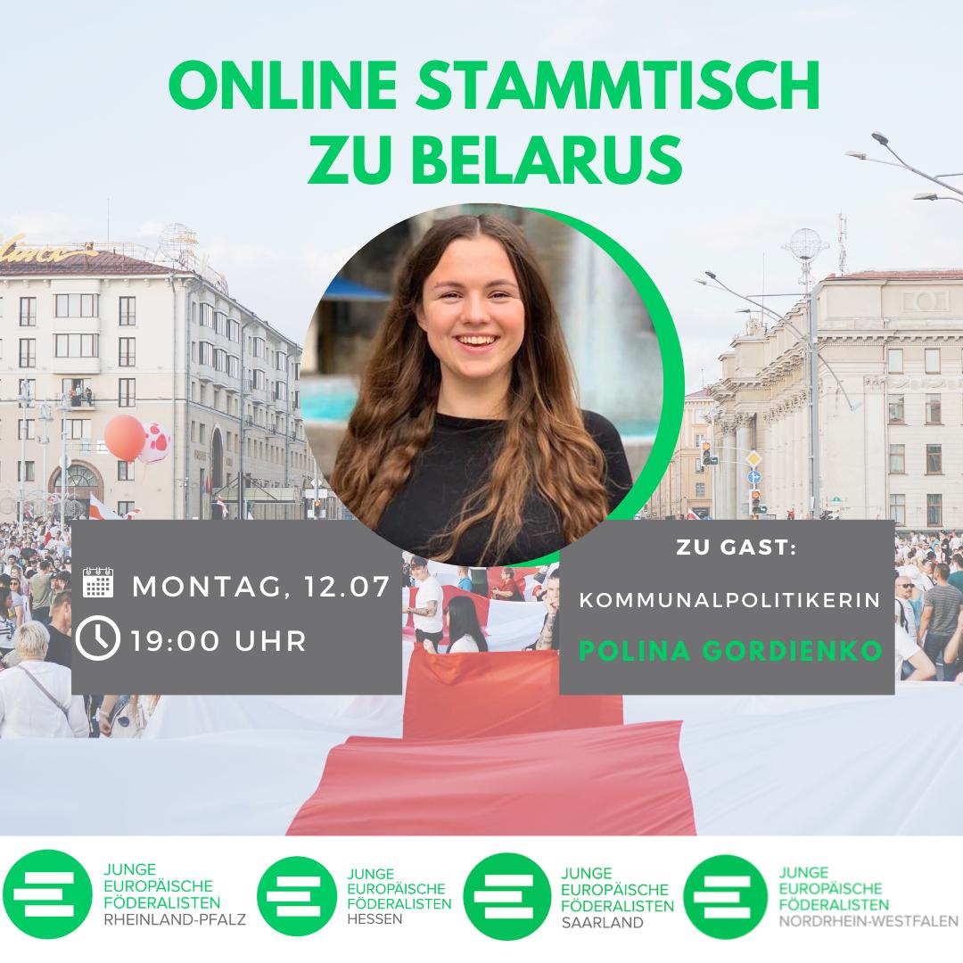 Discuss Europe: Belarus mit Polina Gordienko